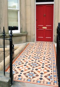 Victorian Floor Tiles in Home Entryway in Bedford