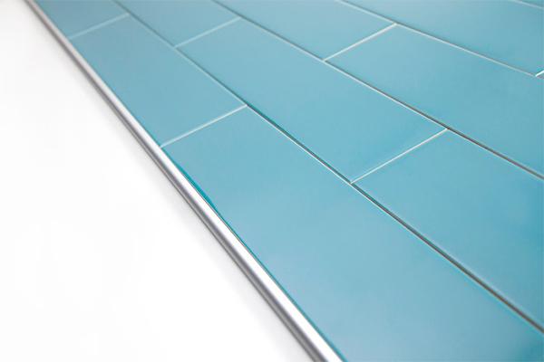 Light blue tile trims