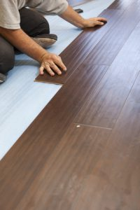 Wooden Flooring being Laid