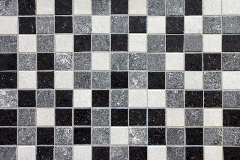 Black white grey Mosaic tiles