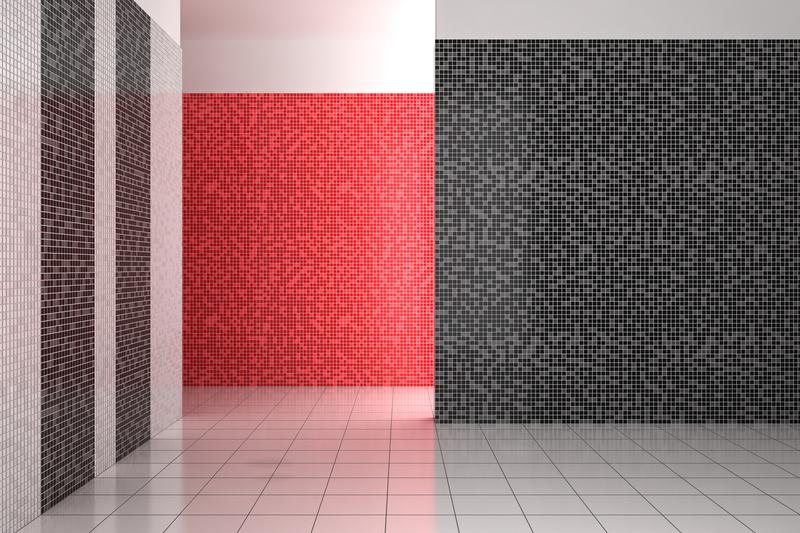 Modern Mosaic tile bathroom