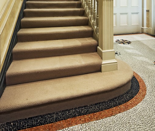 Victorian Tiling by staircase