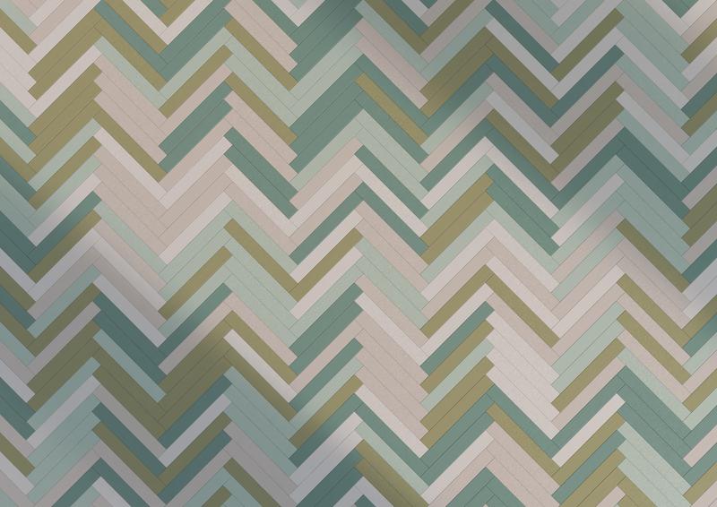 V-shaped tile pattern