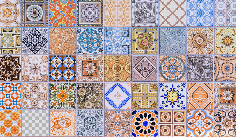 colourful traditional ceramic kitchen tiles