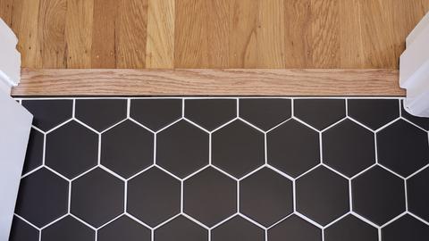 white tile grouting